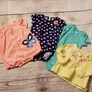 Carters 3 month girls onesies shirt and romp